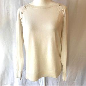 BANANA REPUBLIC Size Medium Cream White Sweater